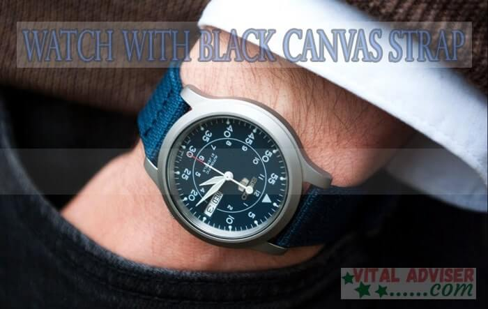 Watch with Black Canvas Strap Review